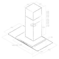 Hota Elica Flat Glass PLUS IX/A/60