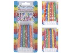 Set luminare Happy Birthday cu suport, 12buc
