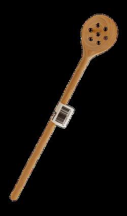 Lingura lemn cu gauri 30cm