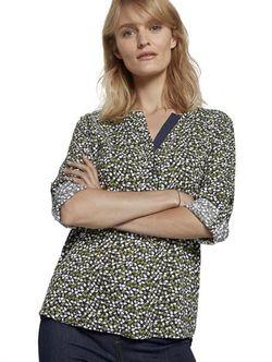 Блуза TOM TAILOR Черный/зеленый/белый 1021097 tom tailor