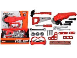 Набор инструментов в ящике с болгаркой