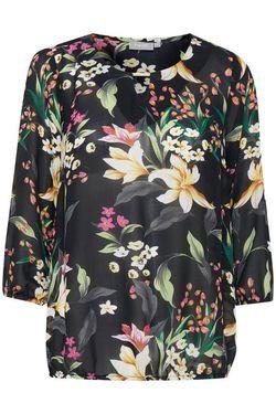Блуза Fransa Черный с принтом 20605878 fransa
