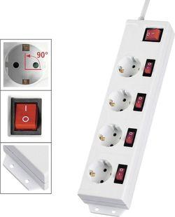 купить Фильтр электрический Hama 137237 4+1, white в Кишинёве