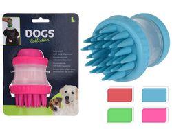 Щетка для купания собак с диспенсером для шампуня D8, H11cm