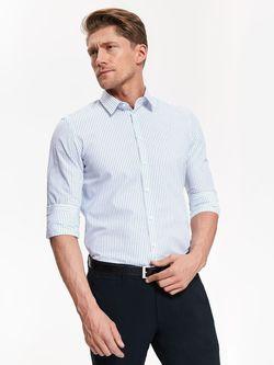 Рубашка TOP SECRET Белый в полоску skl2731
