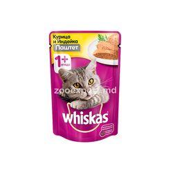 Whiskas паштет курица и индейка