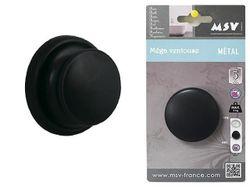 Крючок на присоске Mega хром, черный