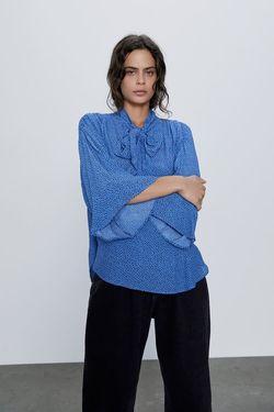 Блуза ZARA Синий 9878/022/330