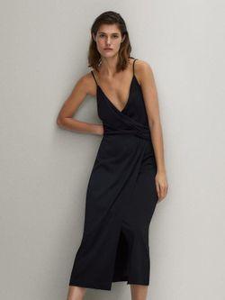 Платье Massimo Dutti Чёрный 6676/780/800