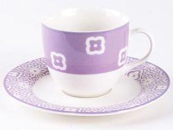Cana pentru ceai 300ml cu farfurie Tognana Ambra, mov