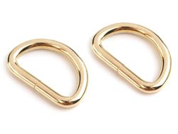 Metal D-ring width 32 mm, gold