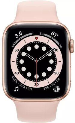 cumpără Ceas inteligent Apple Apple Watch Series 6 44mm Gold/Pink Sand Sport Band (M00E3) în Chișinău