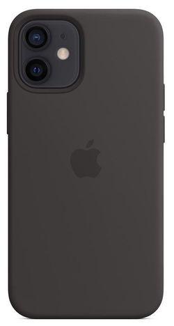 cumpără Husă pentru smartphone Apple iPhone 12 mini Silicone Case with MagSafe Black (MHKX3) în Chișinău