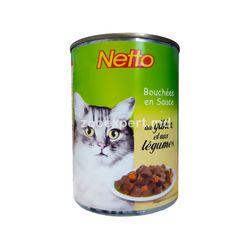 Netto bucăţi de carne în sos cu legume 410 gr