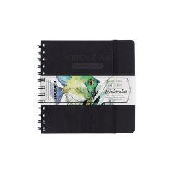 Sketchbook Malevich pentru acuarelă ,White Swan, negru Fin 200 gm 16х16cm, 25 foi