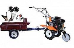 Set motocultivator TECHNOWORKER HB 700N+Remorca RK500 + plug simplu+ plug cartofi + roti metalice 4*8 + prasitoare