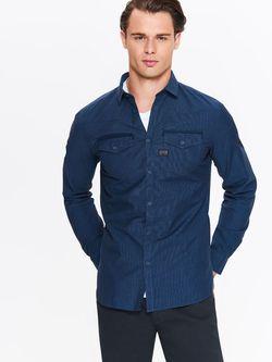 Рубашка TOP SECRET Темно синий  skl2509