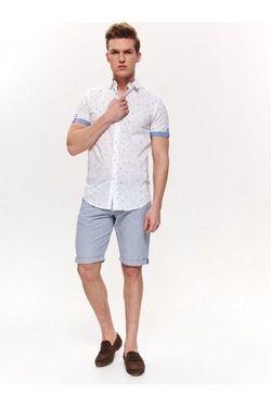 Рубашка TOP SECRET Белый с принтом sks1056bi.