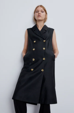 Платье ZARA Чёрный 7901/023/800