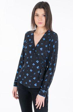 Блуза TOM TAILOR Черный с принтом