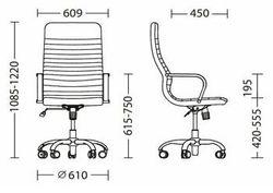 Офисное кресло Новый стиль Liberty Tilt CHR68 Eco-30 Black