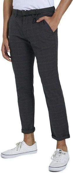 Pantaloni TOM TAILOR Gri in carouri