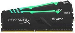 32 ГБ DDR4-3200 МГц Kingston HyperX FURY RGB (комплект из 2x16 ГБ) (HX432C16FB3AK2 / 32), CL16-18-18, 1,35 В