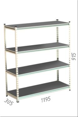 Стеллаж металлический Moduline 1195x305x915 мм, 4 полок/0112PE серый