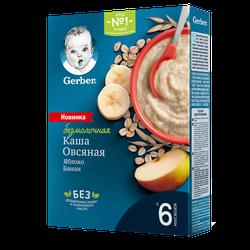 Каша овсяная без молока яблоко-банан Gerber, с 6 месяцев, 180г