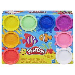 Set de plastilină Play-Doh din 8 borcane Rainbow, cod 43029
