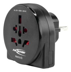 купить Адаптер электрический Ansmann 1250-0011 Travel plug в Кишинёве
