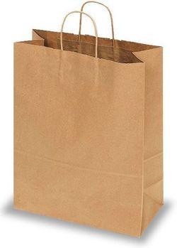 Бумажные крафт пакеты с кручеными ручками 32*12*41
