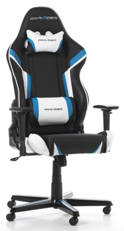 купить Gaming кресло DXRacer Racing GC-R288-NBW-Z1, Black/Blue/White в Кишинёве