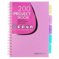 Блокнот A5 Coolpack пастельный, 200 страниц, розовый, со спиралью, математика