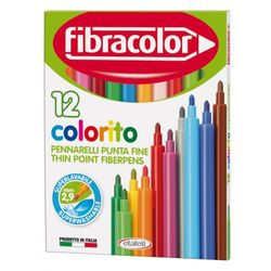 Фломастеры Fibracolor 12 цветов моющиеся
