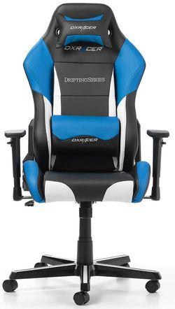 купить Gaming кресло DXRacer Drifting GC-D61-NWB-M3, Black/White/Blue в Кишинёве