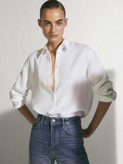 Блуза Massimo Dutti Белый 5114/512/250