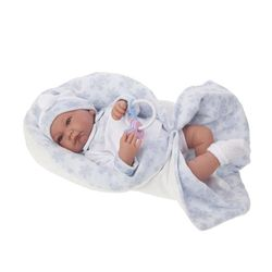 Кукла младенец голубая 40 см Код 3375