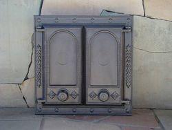 Дверца чугунная глухая двустворчатая DW8