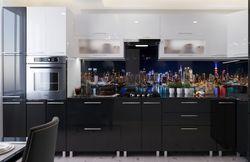 Bucătărie Bafimob Corner (High Gloss) 4.1x0.9m Eco +ball closer White/Black