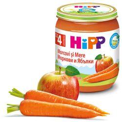 Piure de morcov și mere Hipp (4+ luni), 125g