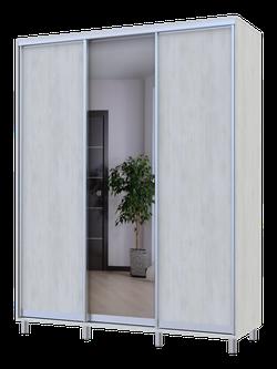 City Lite 1 usa oglinda 2.25 m x 1.8m x 0.6 m lemn alb 0449