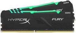 32 ГБ DDR4-3600 МГц Kingston HyperX FURY RGB (комплект из 2x16 ГБ) (HX436C18FB4AK2 / 32), CL18, 1,35 В, черный