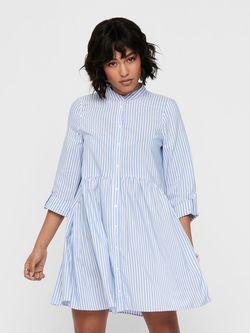 Платье ONLY Синий в полоску