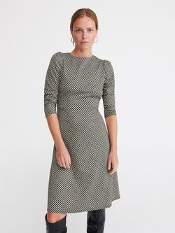 Платье RESERVED Черно-белый ww318-mlc