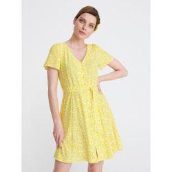 Платье RESERVED Желтый с принтом xb357