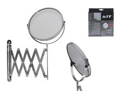 Зеркало настенное для ванной MSV выдвижное