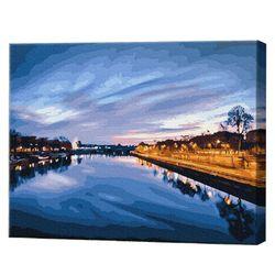 Râu în amurg, 40х50 cm, pictură pe numere Articol: GX23841