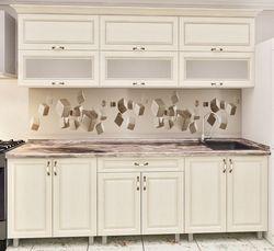 Кухонный гарнитур Bafimob Modern MDF 2.4m glass Beige
