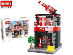 Конструктор HSANHE mini street Coca-Cola 21X15,X5cm, 194дет.